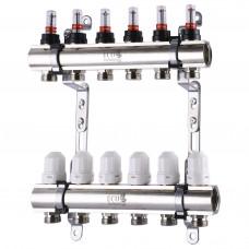 Коллектор с расходомерами, регуляторами и креплением ECO 001D 1