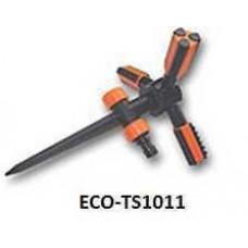 ECO-TS1011 Ороситель вращающийся трехрожковый, на пластиковом колышке TRIO