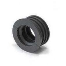 Редукция резиновая 110 (плюшка, черная)