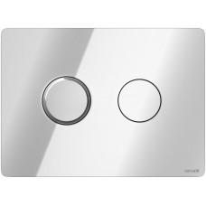 Кнопка смыва ACCENTO CIRCLE PNEUMATIC  глянцевая хром
