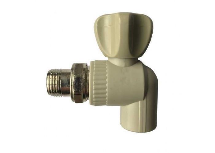 Кран радиаторный угловой Kalde PPR ф25x3/4  22015