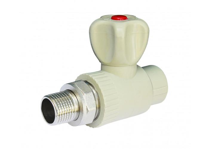 Кран радиаторный прямой Vsplast PPR ф20x1/2