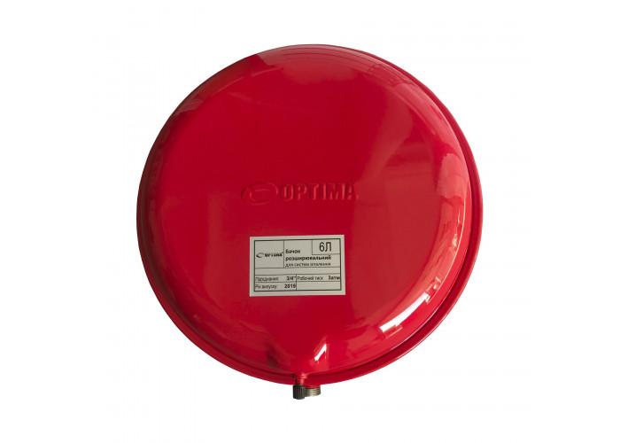 Бак Optima плоский для систем отопления   6л