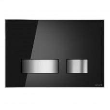 Кнопка слива MOVI черное стекло